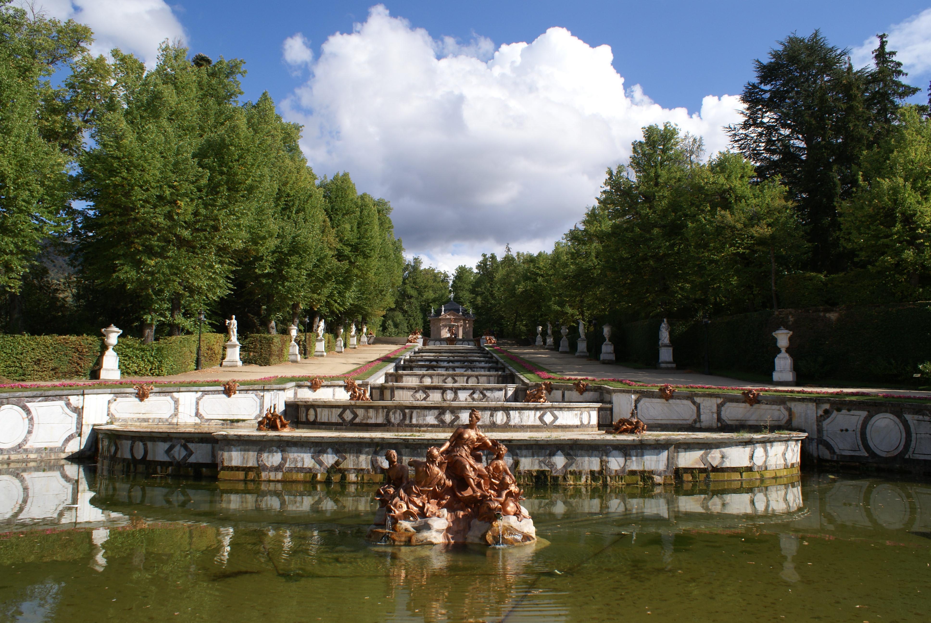 Las fuentes del Palacio Real de La Granja de San Ildefonso